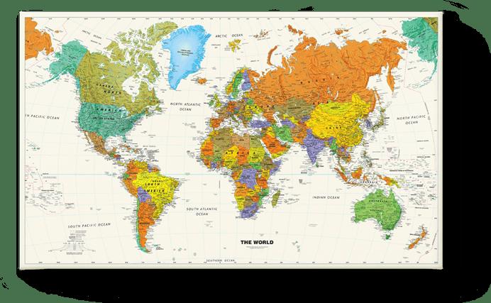 Carte de monde école 1