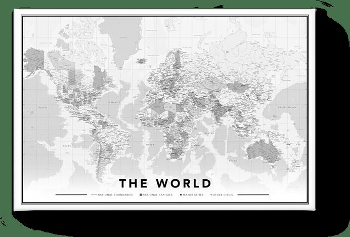 Carte de monde design