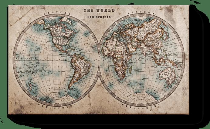 Carte de monde ancienne