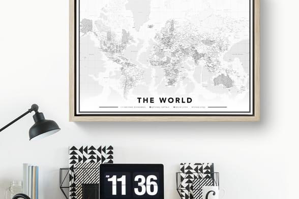 Cartes du Monde sur toile