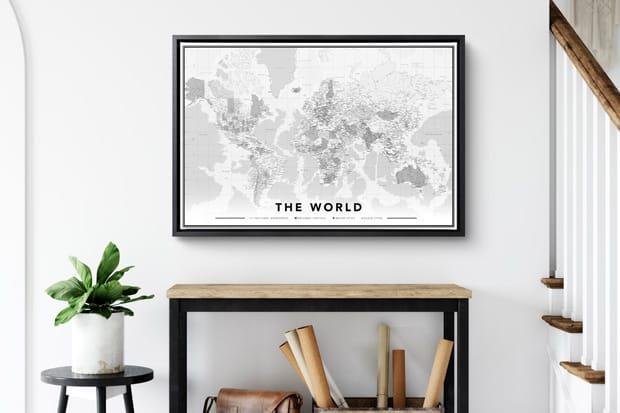 Commander carte du monde sur toile