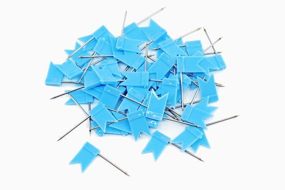 60 drapeaux bleus